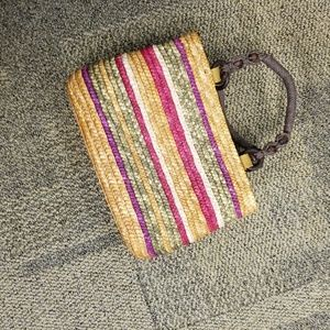 Basket weave Croft and Barrow tote